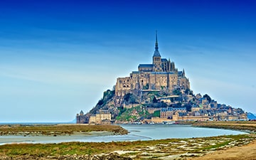 Mont Saint Michel bay view