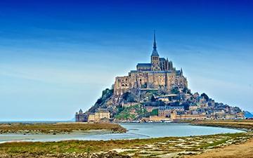 Mont Saint Michel bay view